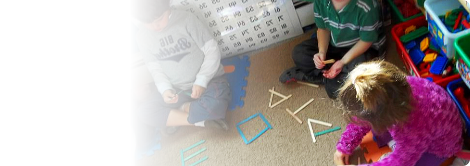 Children Playing stick forming Letters